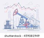oil industry  pumps  trade.... | Shutterstock .eps vector #459081949