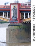 Small photo of LONDON, ENGLAND - JULY 8, 2016: Statue representing Science on a pier of Vauxhall Bridge over the River Thames in London. Sculpted by the late Alfred Drury and on permanent public display since 1907.