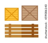 wooden boxes vector. flat...