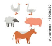set of domestic animals... | Shutterstock .eps vector #459086380