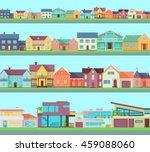 big set of houses  buildings ... | Shutterstock .eps vector #459088060