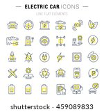 set vector line icons with open ... | Shutterstock .eps vector #459089833