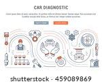 flat line illustration of car... | Shutterstock .eps vector #459089869