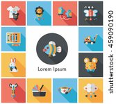 kid and baby icons set | Shutterstock .eps vector #459090190
