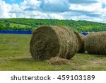 haystack on the background of... | Shutterstock . vector #459103189