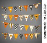 vector triangle bunting flags.... | Shutterstock .eps vector #459106660