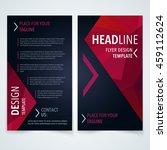 vector design template of flyer ... | Shutterstock .eps vector #459112624
