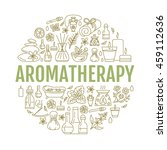 aromatherapy and essential oils ... | Shutterstock .eps vector #459112636