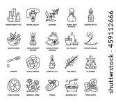 modern vector line icons of... | Shutterstock .eps vector #459112666