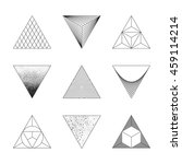 set of triangles. design...   Shutterstock .eps vector #459114214