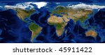 world map shaded relief with...