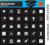 education vector icons set ... | Shutterstock .eps vector #459114358