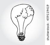 hand drawn broken light bulb... | Shutterstock .eps vector #459119419