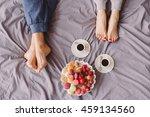 young caucasian couple having... | Shutterstock . vector #459134560