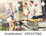 closeup of grilled shashliks... | Shutterstock . vector #459147283