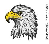 proud eagle head. illustration... | Shutterstock . vector #459147550
