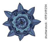 blue zentangle mandala flower.... | Shutterstock .eps vector #459149254
