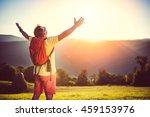 man in yellow shirt  sunglasses ... | Shutterstock . vector #459153976