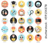 flat conceptual icons set... | Shutterstock .eps vector #459154378