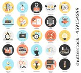 flat conceptual icons set of...