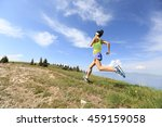 healthy young woman trail... | Shutterstock . vector #459159058