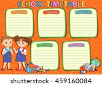 school timetable thematic image ...