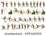 character positions set... | Shutterstock . vector #459165433
