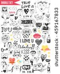 doodles set   love | Shutterstock .eps vector #459167833