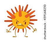 vector cartoon image of a funny ... | Shutterstock .eps vector #459168250
