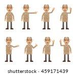 set of detective characters... | Shutterstock .eps vector #459171439
