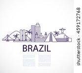 buildings and landmarks of the... | Shutterstock .eps vector #459172768