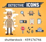 set of detective icons.... | Shutterstock .eps vector #459176746