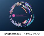 colorful abstract mosaic sphere ... | Shutterstock .eps vector #459177970