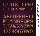 golden striped letters and... | Shutterstock .eps vector #459178588