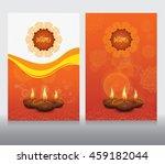 creative diwali festival design ...   Shutterstock .eps vector #459182044