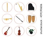 musical instruments set for use ... | Shutterstock .eps vector #459190606
