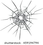 broken glass vector | Shutterstock .eps vector #459194794