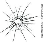 broken glass vector | Shutterstock .eps vector #459194803