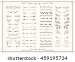 big set of elements for wedding ... | Shutterstock .eps vector #459195724