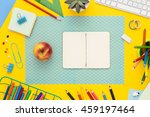 back to school concept with... | Shutterstock . vector #459197464