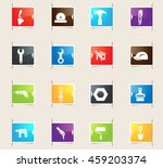 work tools vector bookmark... | Shutterstock .eps vector #459203374