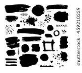 vector brush strokes  ink... | Shutterstock .eps vector #459210229