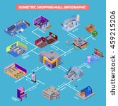 shopping mall with...   Shutterstock .eps vector #459215206
