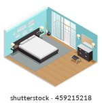 Bedroom Interior Isometric Vie...
