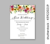 wedding card or invitation with ... | Shutterstock .eps vector #459220219