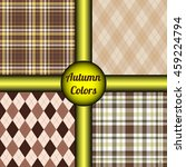 Set Of 4 Seamless Patterns In...