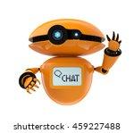 orange robot isolated on white... | Shutterstock . vector #459227488
