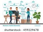 business creative illustration. ... | Shutterstock .eps vector #459229678