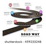 road way design infographics. | Shutterstock .eps vector #459233248