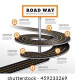 road way design infographics. | Shutterstock .eps vector #459233269